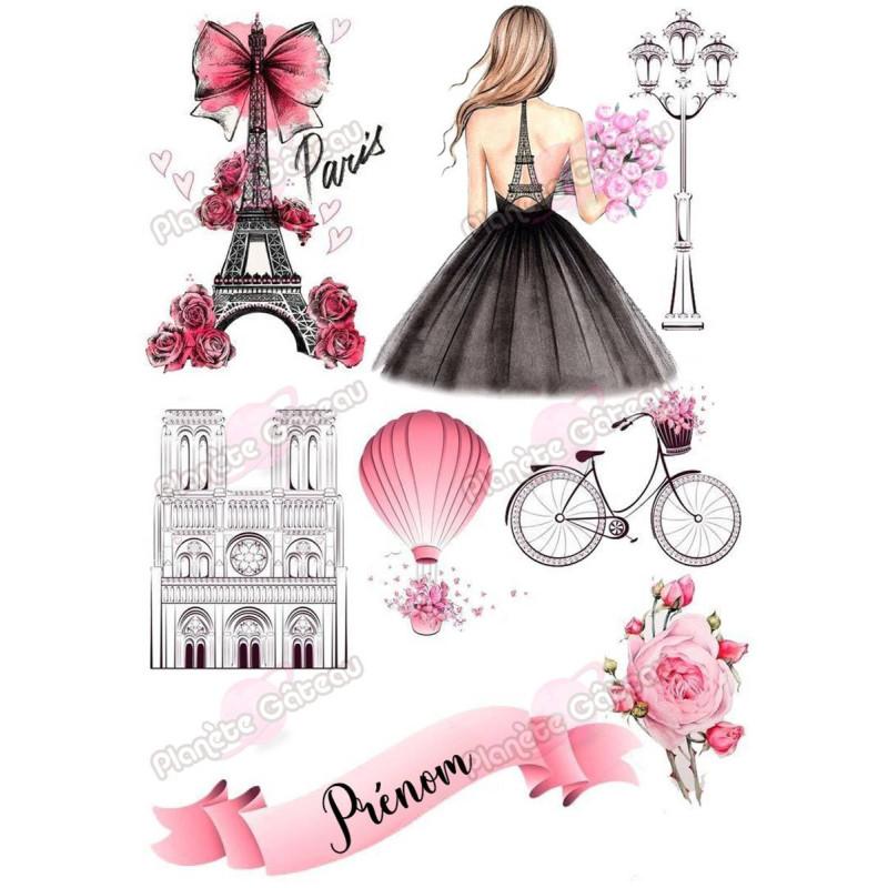 Kit décoration alimentaire Mode Paris et glamour
