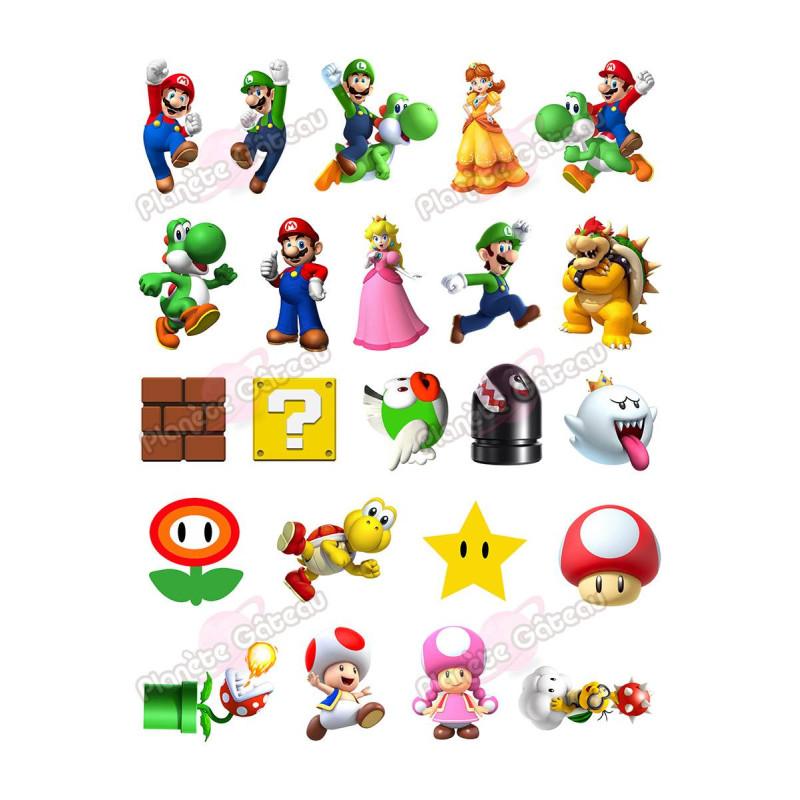 Kit de décoration alimentaire Mario Bross