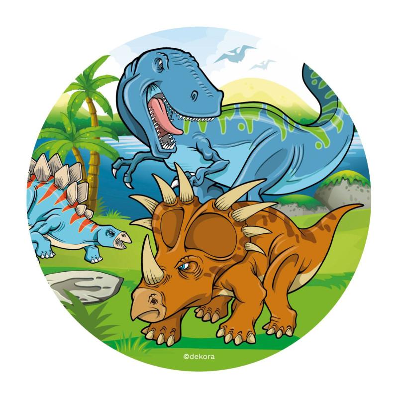 Disque azyme 3 Dinosaures 20 cm
