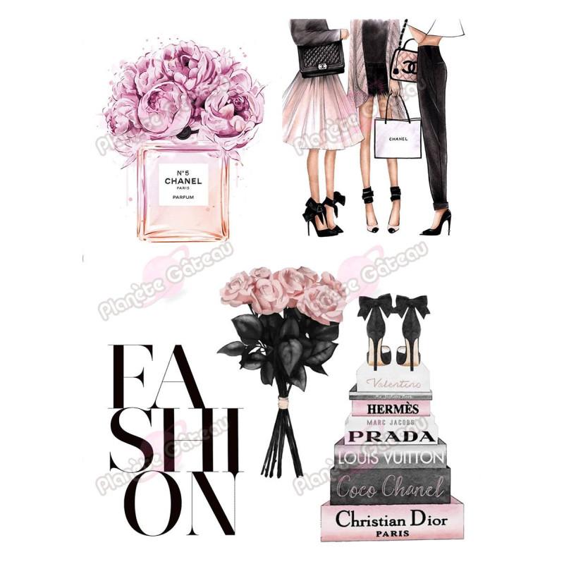 Kit de décoration alimentaire Mode Fashion et Grandes Marques