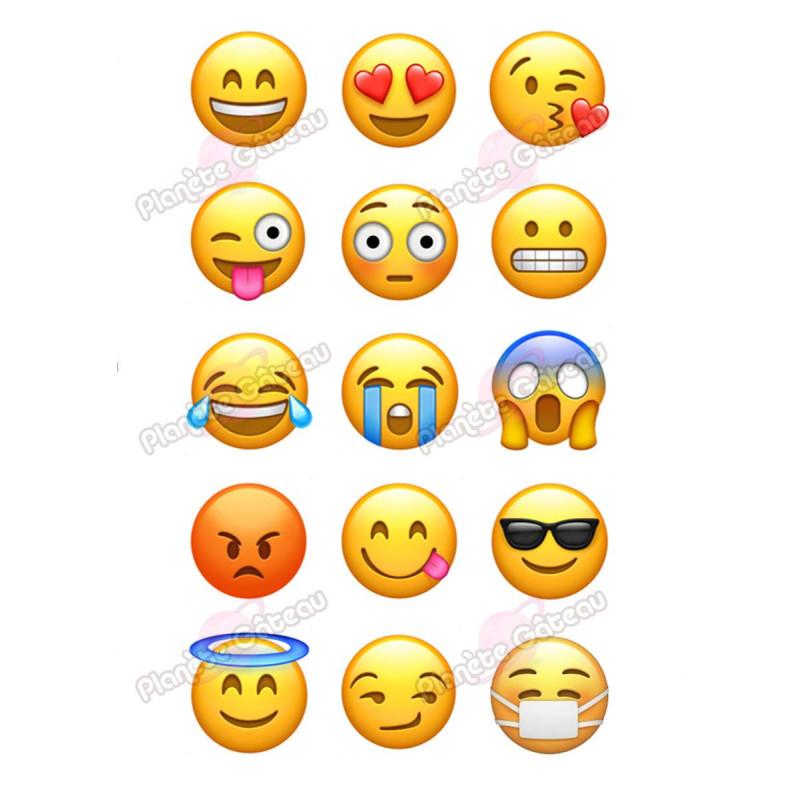 Impression alimentaire Emoticon et smartphone