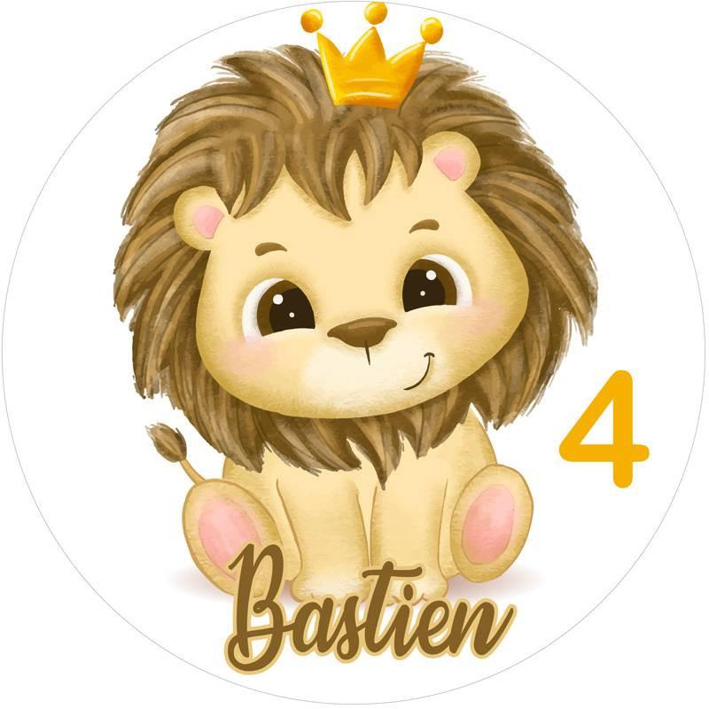 Impression alimentaire Bébé Lion personnalisée