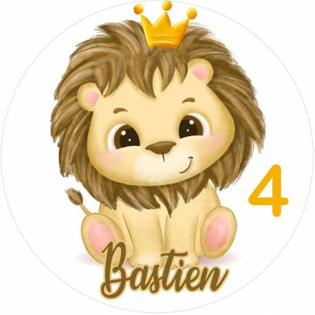 Personalized Baby Lion Food Print