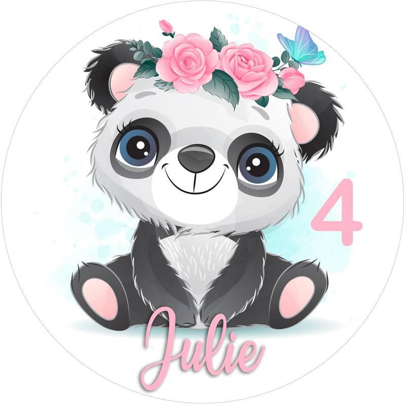 Impression alimentaire Bébé Panda personnalisée