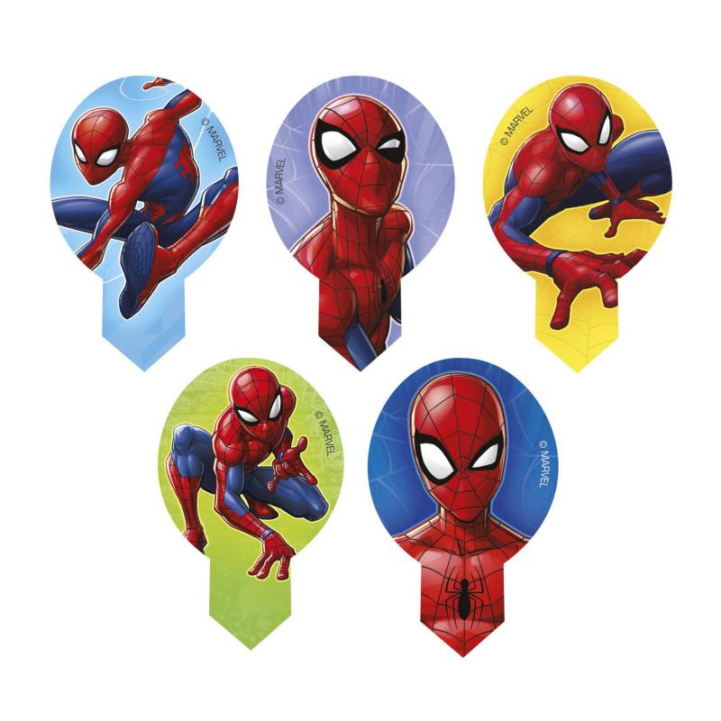 Decoraciones para magdalenas sin levadura de Spiderman x20