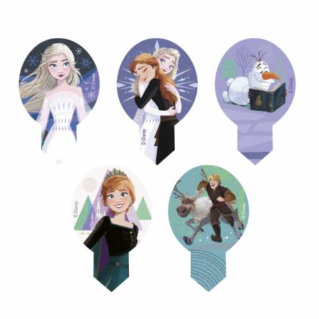 Snow Queen Unleavened Decorations 2 for cupcakes x20