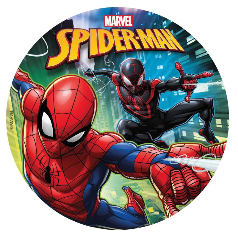Disque comestible Spiderman en action 20 cm