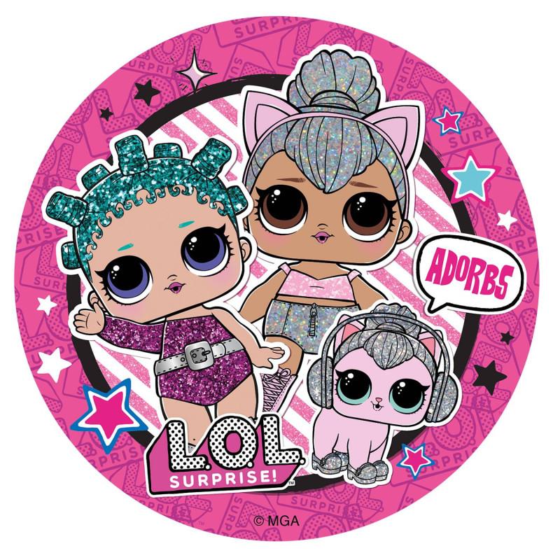 Edible Disc Doll Lol 16 cm