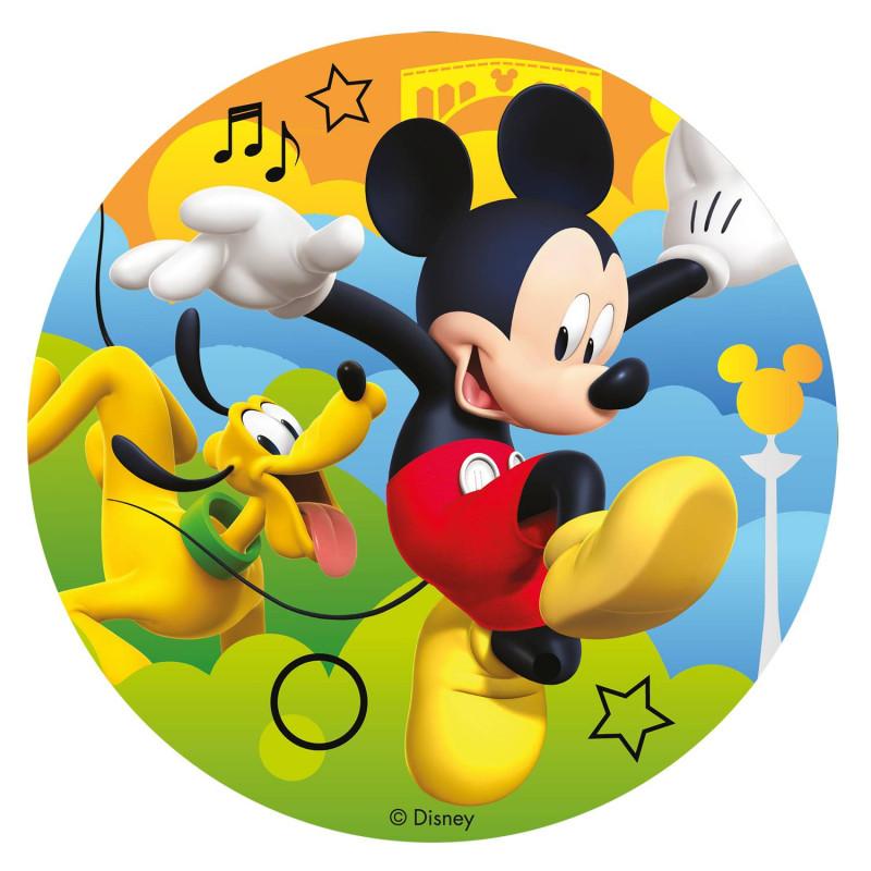 Disque comestible Mickey et Pluto 16 cm
