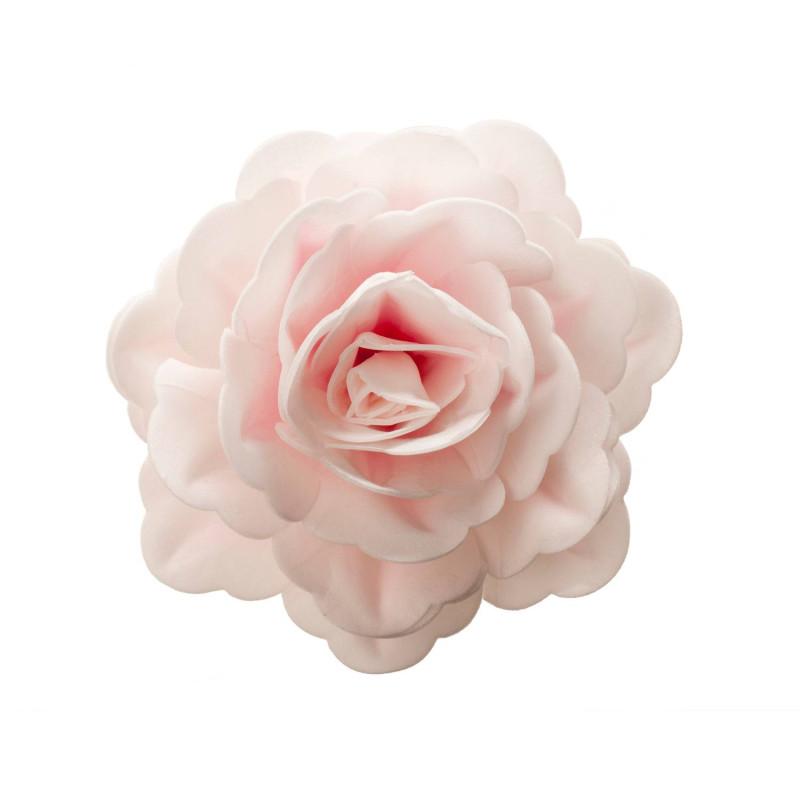 Fleur rose couleur rose en azyme 12,5 cm