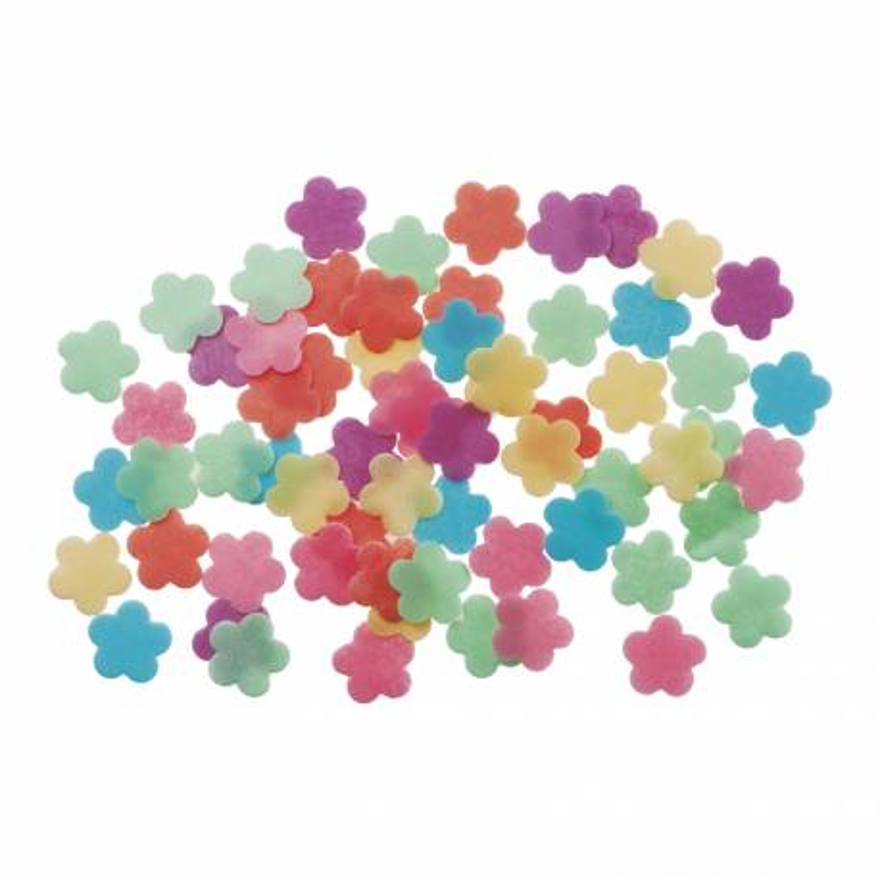 Mini flores multicolores en zyme sin levadura x 500