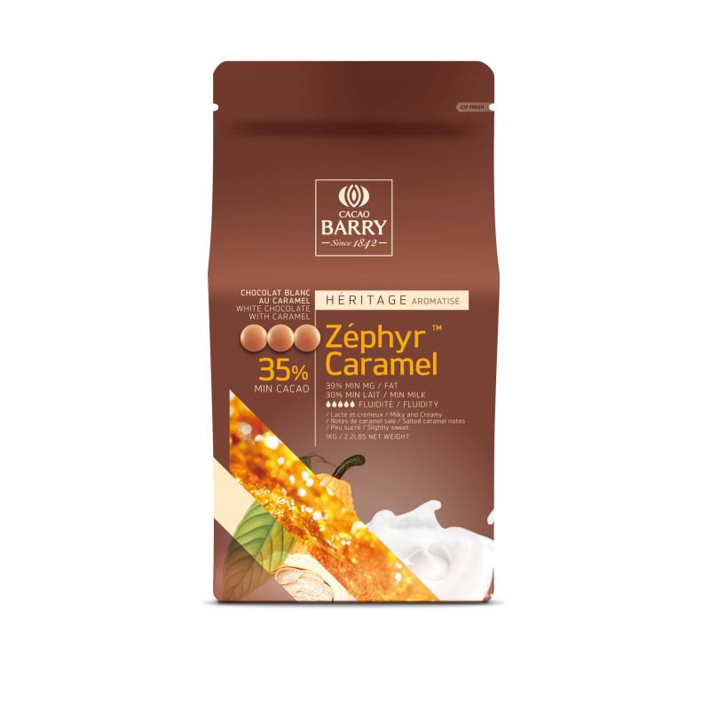 Chocolate blanco Zephyr Caramel 35% Barry 2,5 kg