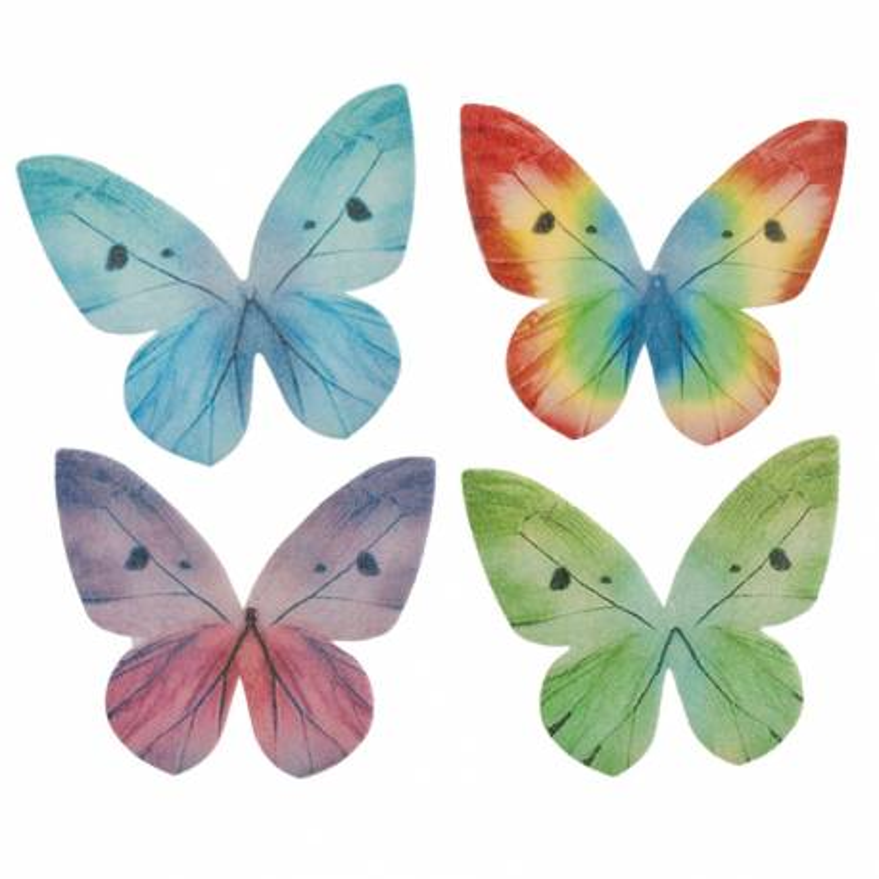 Papillons assortis en azyme 4 cm x87