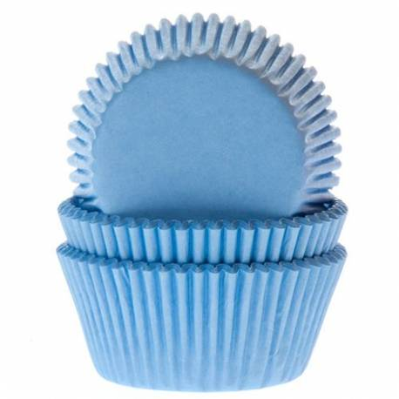 Caissettes à cupcakes bleu clair x50