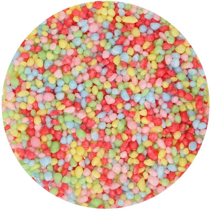 Multicoloured sugar granules Funcakes 80g