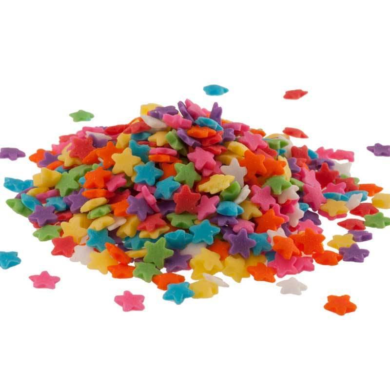 Mini multicoloured stars in sugar 100g