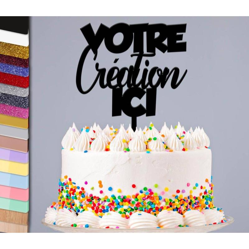 Topper gâteau création personnalisée sur mesure