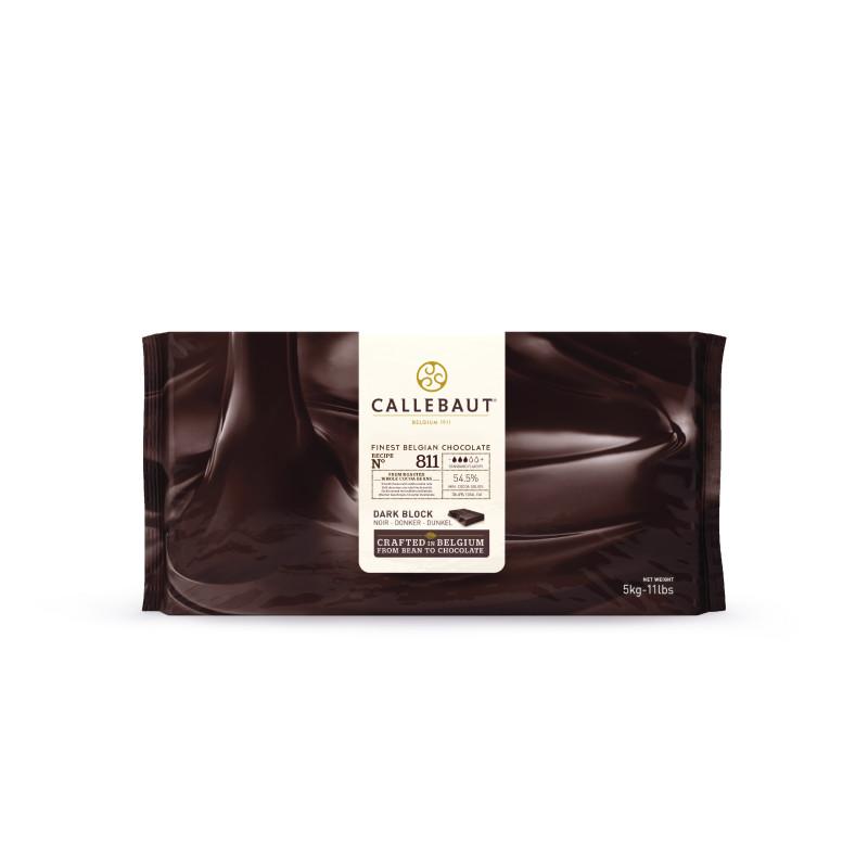 Tapa de chocolate negro Callebaut 811 55% bloque 5 kg