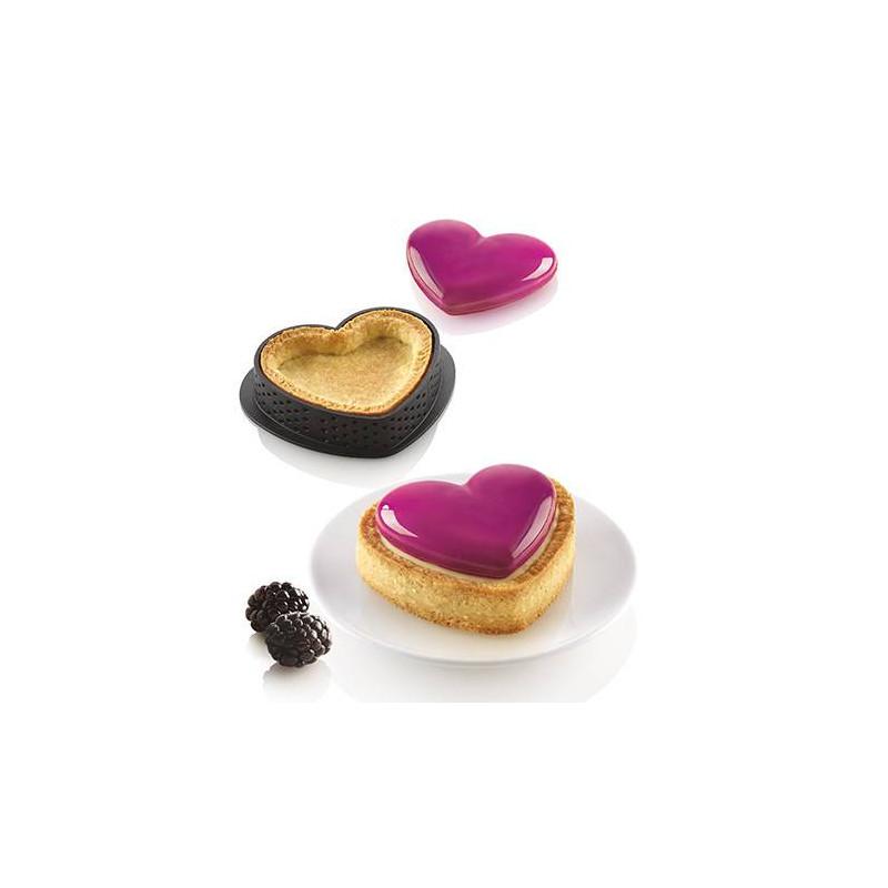 Kit mini tartes coeur Petit Amour de Silikomart x8