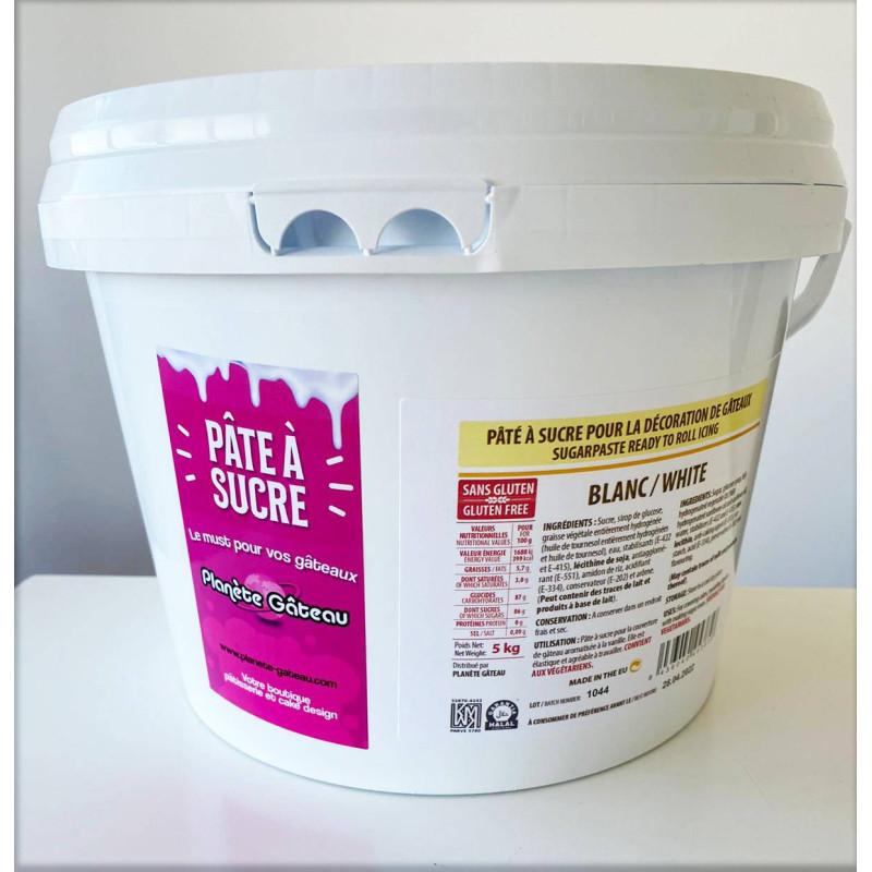 Pâte à sucre PLANETE GATEAU blanc 5 kg
