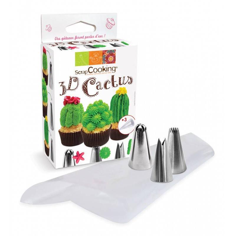 Kit douilles 3D cactus avec poches
