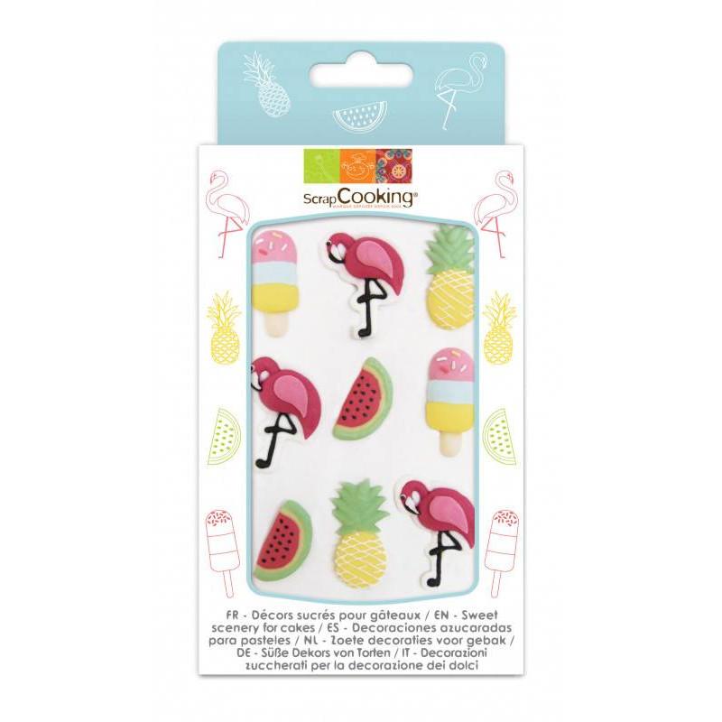 Tropical sugar decorations - 4 models