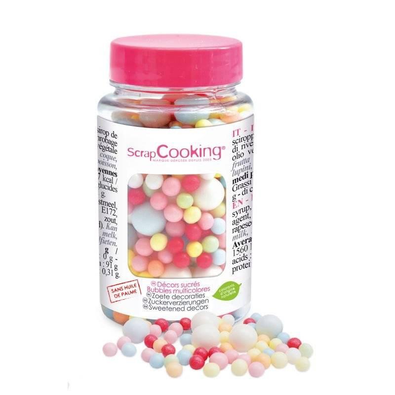 Mezcla de perlas de azúcar multicolor 70 g