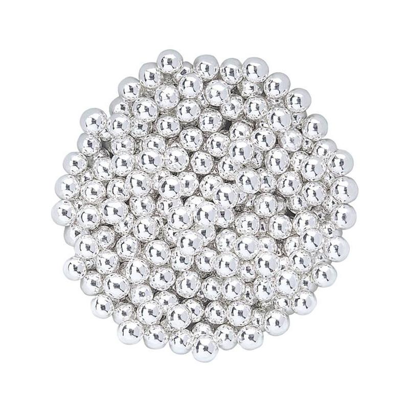 Perles argentées en sucre 500 g - 6mm