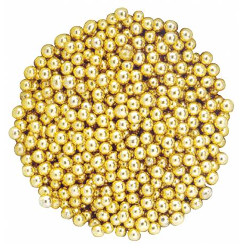 Cuentas de azúcar doradas 500 g - 4mm