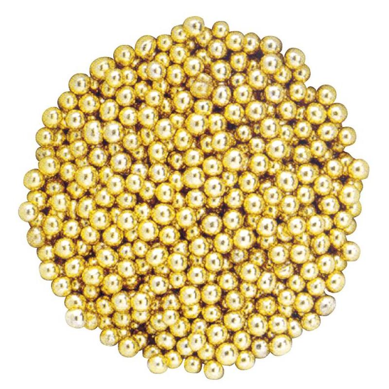 Gold sugar beads 500 g - 4mm