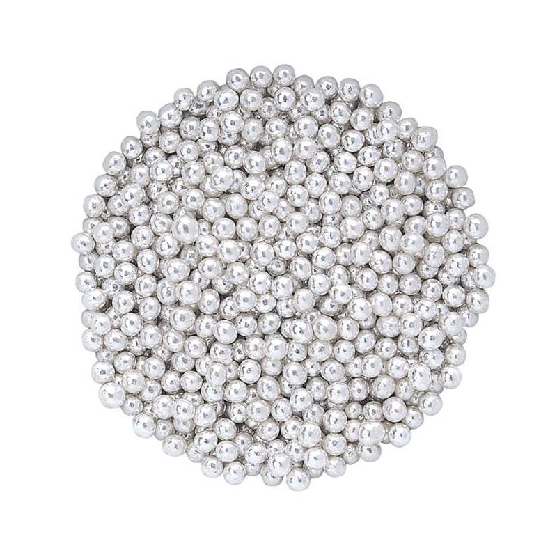 Silver sugar beads 500 g - 4mm