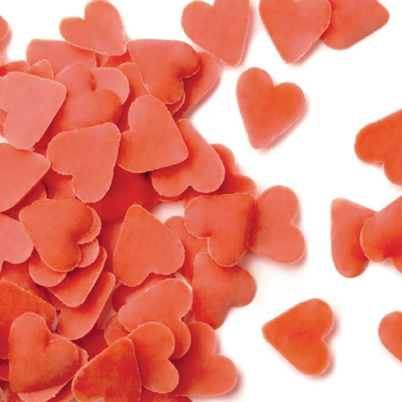 Cœurs rouges en sucre 500 g