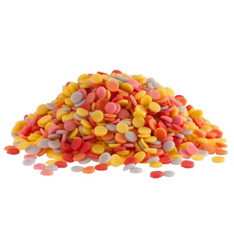 Multicoloured sugar confetti 1 kg