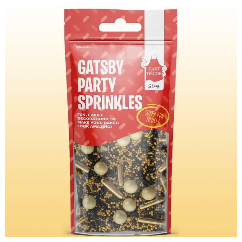 Mix sprinkles Gatsby gold and black sprinkles 50 g