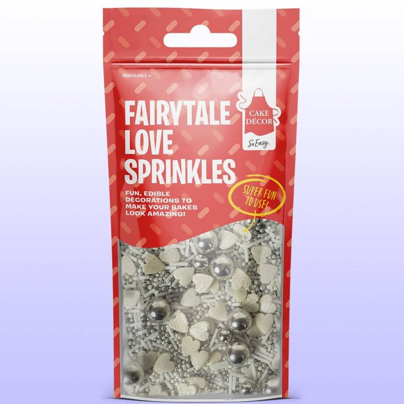 Mix sprinkles amour argenté 50 g