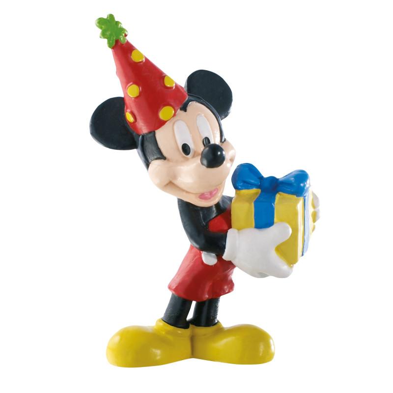 Figurine Mickey anniversaire - 7.5 cm