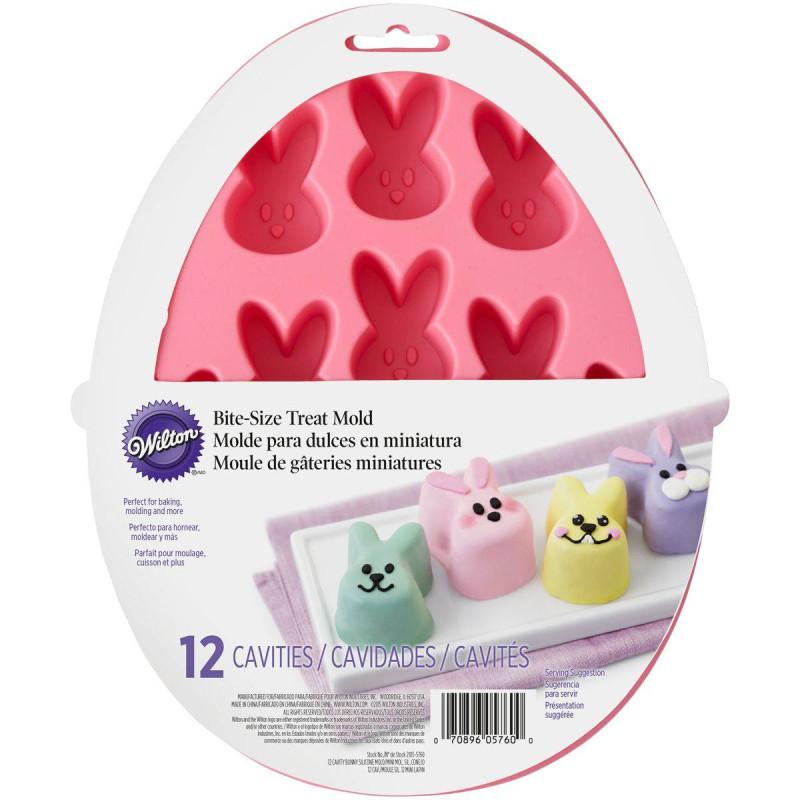 Moule têtes de lapins en silicone Wilton x12