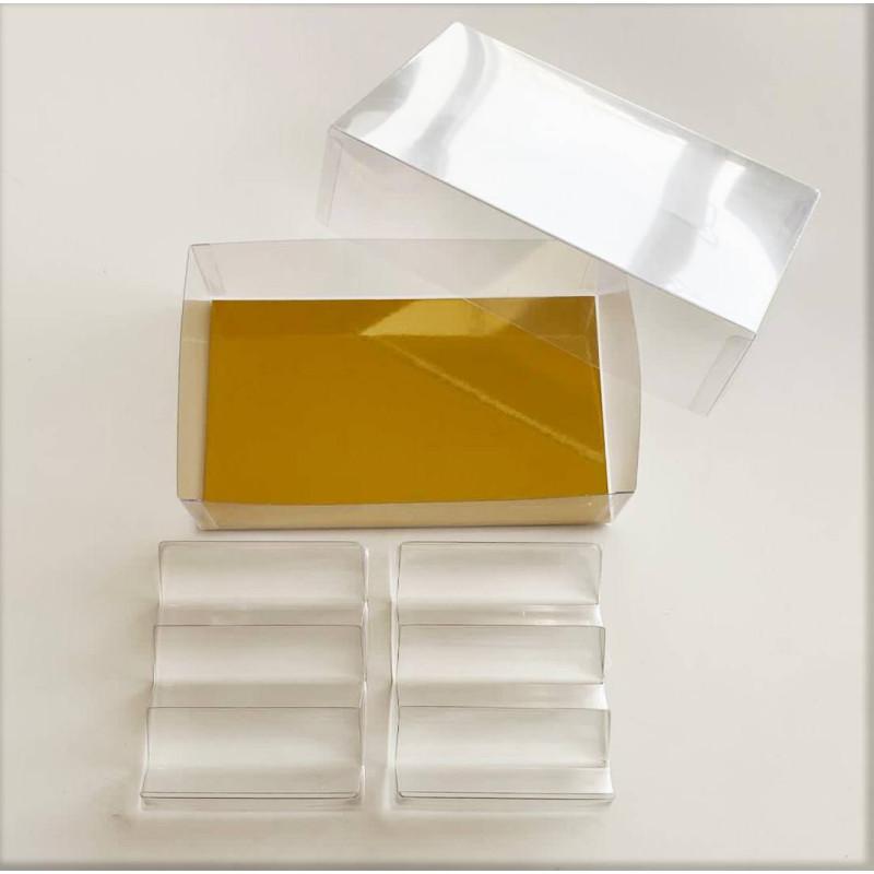 Boite à macarons transparente pour 12 pièces avec inserts