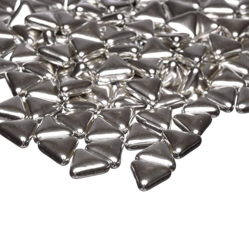 Triángulos plateados Happy Sprinkles - 100 g
