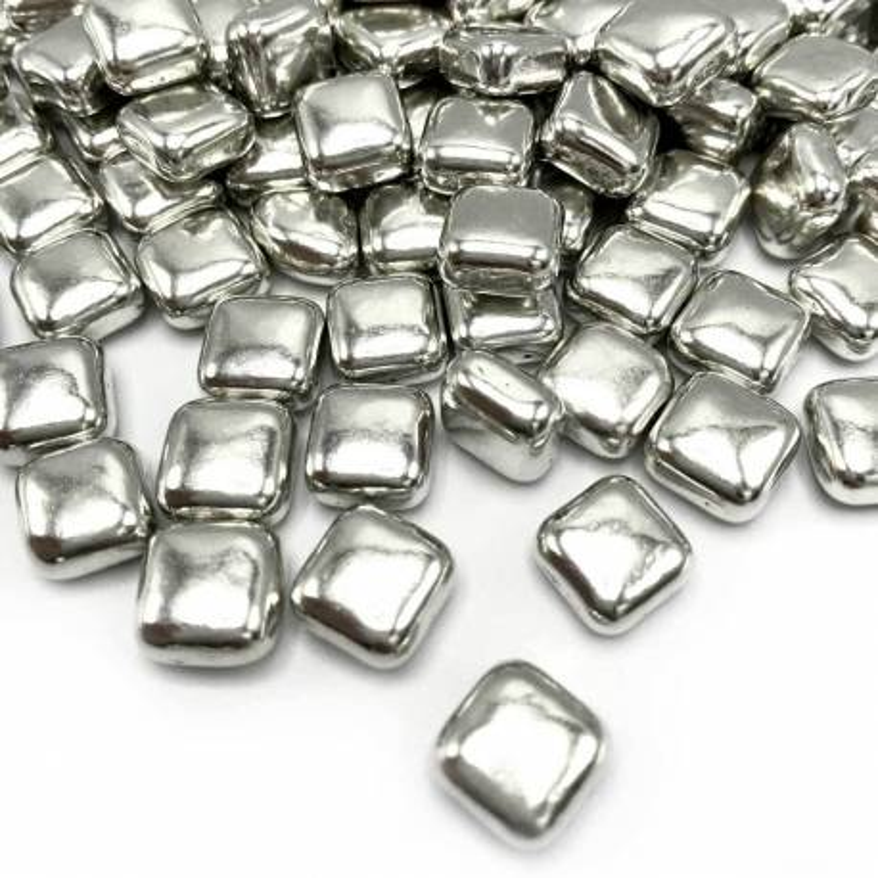 Happy Sprinkles cuadrado plata - 100 g