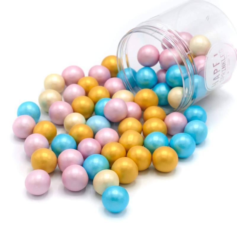 Billes en chocolat XXL couleur pastel Happy Sprinkles - 135 g
