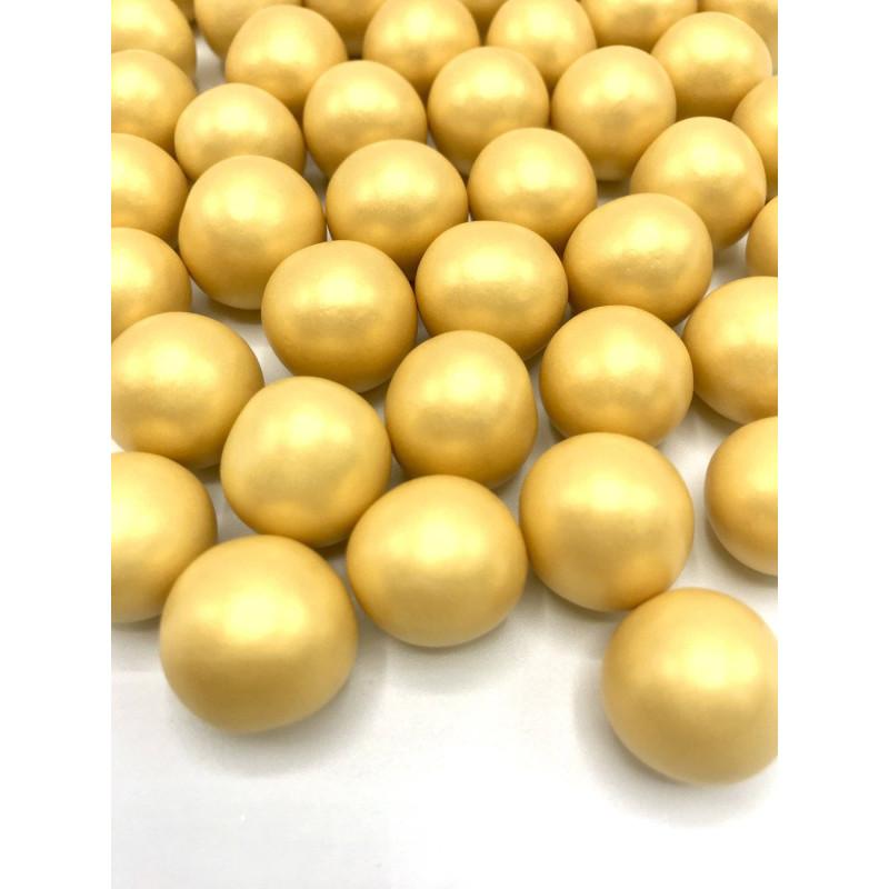 Billes en chocolat XXL couleur or Happy Sprinkles - 135 g
