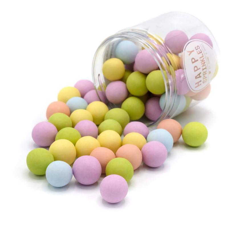Billes en chocolat Dull Pastel XXL Happy Sprinkles 135 g