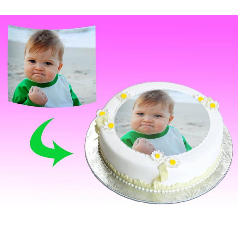 Customized food printing on unleavened or sugar foil