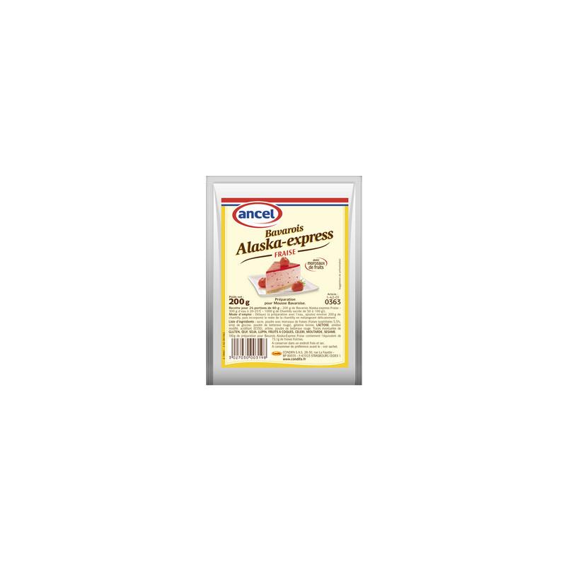 Préparation pour bavarois Alaska-express fraise - 200 g