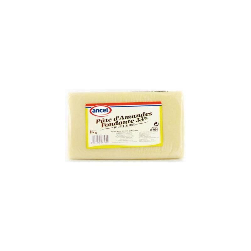 Pâte d'Amande Fondante Blanche 33% Ancel - 1 kg