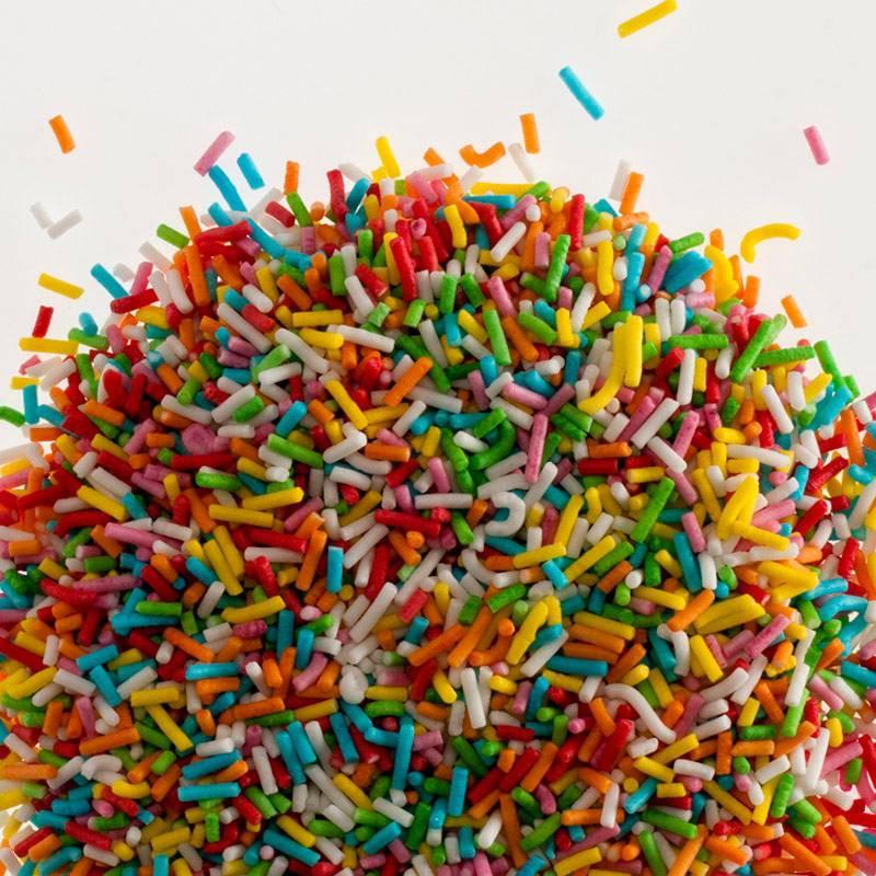 Fideos multicolores en azúcar - 1,2 kg
