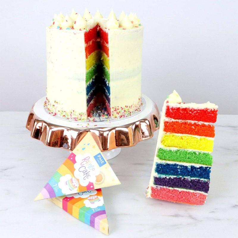 Colorants alimentaires pour Rainbow Cakes - 7 couleurs