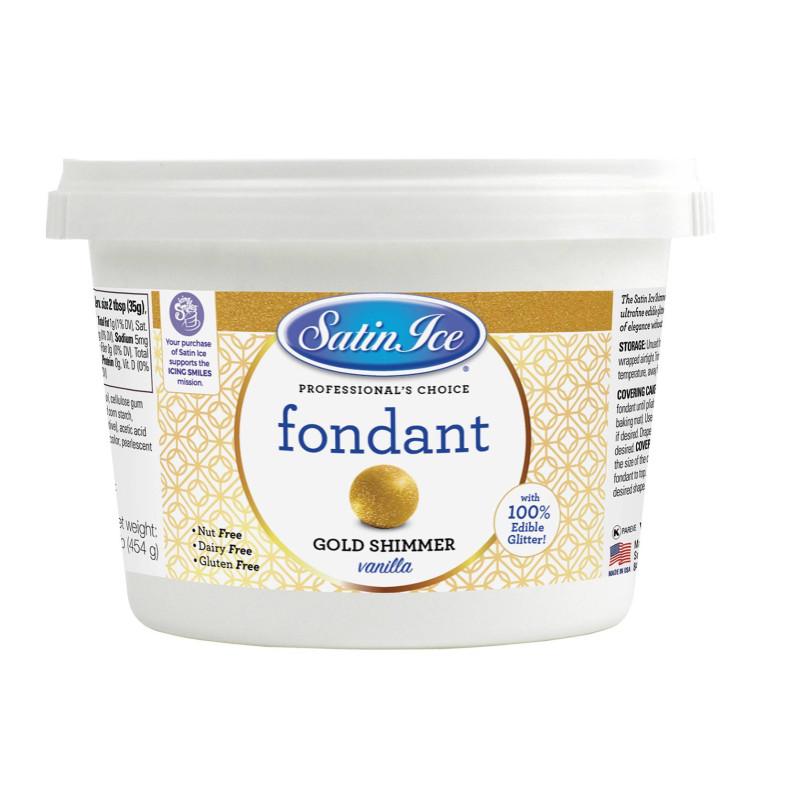 Pasta de azúcar o hielo satinado brillante - 450g