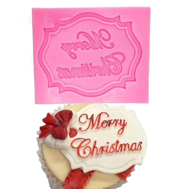 Moule Plaque MERRY CHRISTMAS en silicone